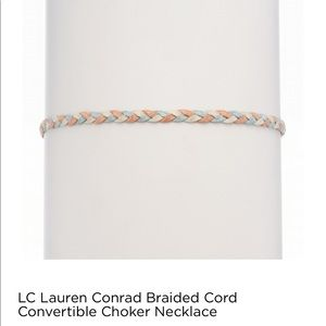 LC LAUREN CONRAD SUEDE BRAIDED CHOKER NECKLACE V2